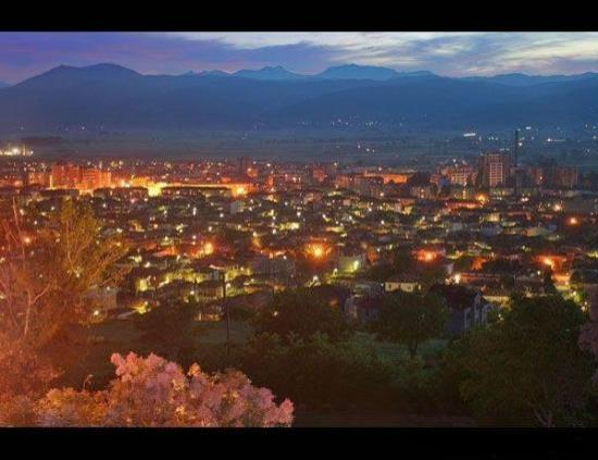 Korce, Albania: Korca at night