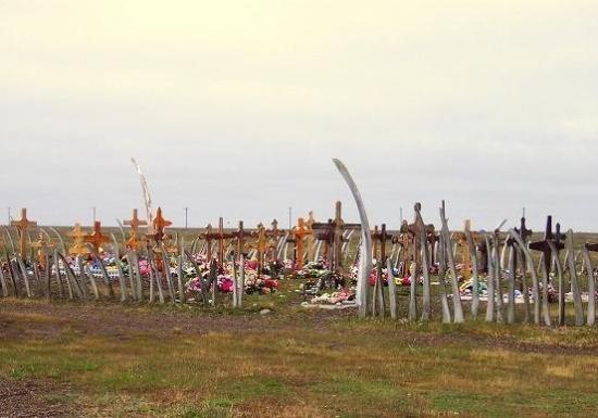 Whale Bone Fence Around A Eskimo Cemetery Picture Of