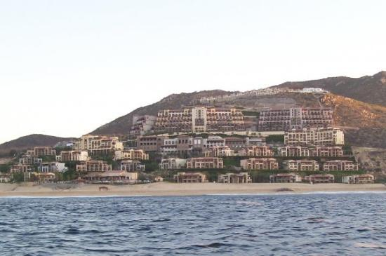 Pueblo Bonito Sunset Beach Golf & Spa Resort: View of our hotel from the water.