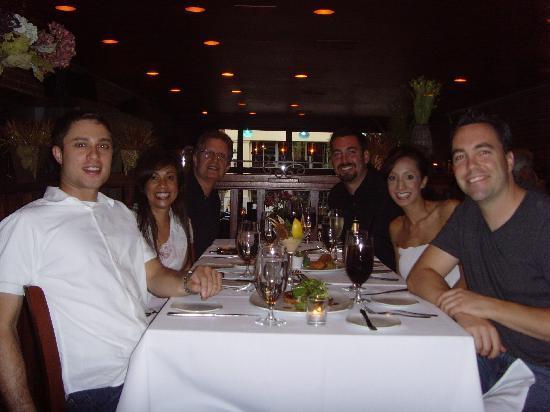 Koberl At Blue: Us at the restaurant