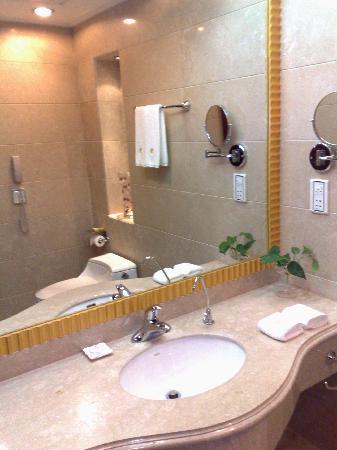 Yuehai Hotel: Detalle baño de visitas