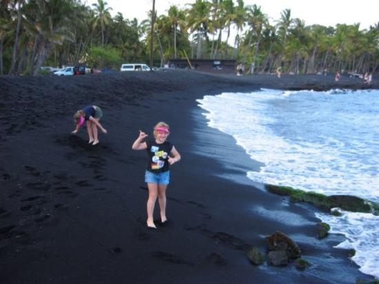 Hilo Hi Black Sand Beach Hawaii Island