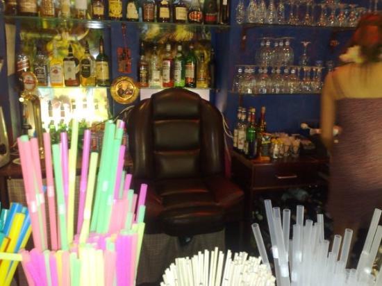 Riga, Lettonie : The barman chair