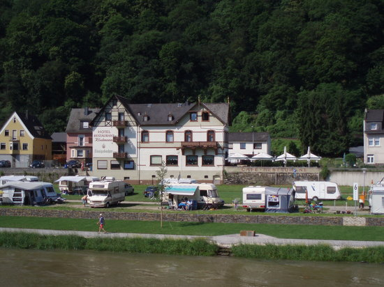 Sankt Goar, Deutschland: Hotel Keutmann taken from the River Rhine