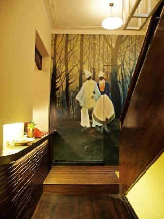 Kejiantang Boutique Hotel: Painted wall