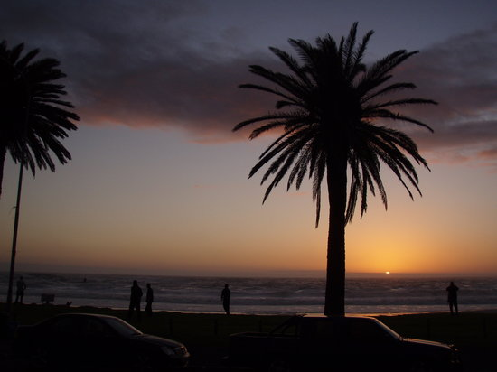 Cape Town Central, South Africa: Sunset from Camps Bay