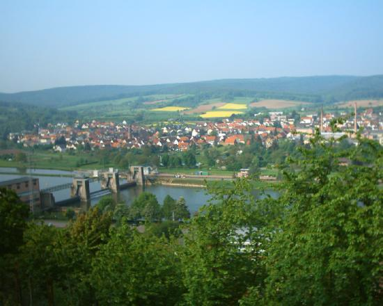 Klingenberg, Germany: View from up near castle