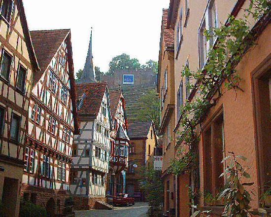 Klingenberg, Germany: Typical street in town