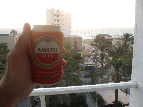 Achillion Hotel: Cold beer at the balcony :)