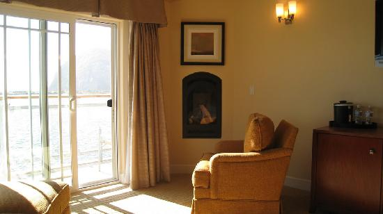 Anderson Inn: Fireplace
