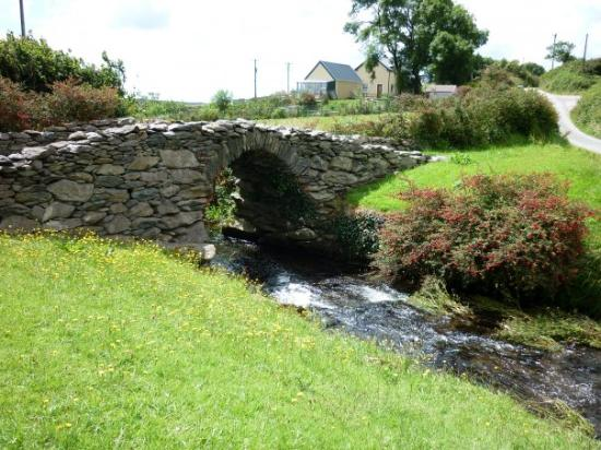 Garfinny Bridge near Dingle, built around 1580 this medieval stone bridge was built entirely wit