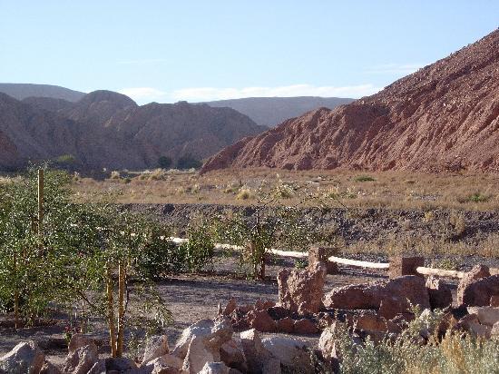 Alto Atacama Desert Lodge & Spa: Vom Zimmerterrasse nach Norden