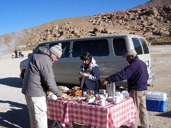 Alto Atacama Desert Lodge & Spa: Frühstück einer Excursion