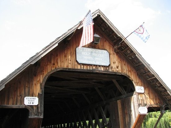 Frankenmuth, MI: The bridge (for additional parking like another 1/2 mile away)