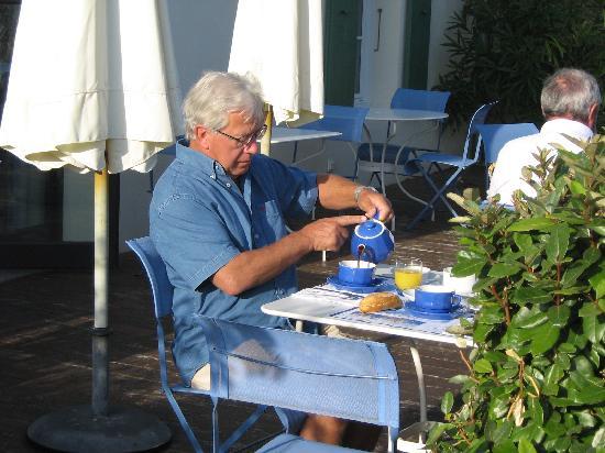 Hotel La Galiote : la vie en bleu au petit déjeuner