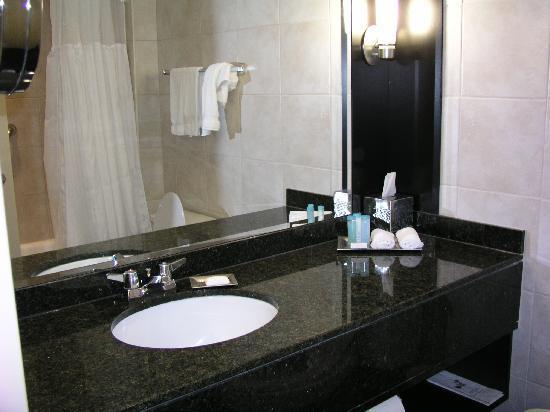 Typical hotel washroom picture of hilton quebec quebec for Washroom photo