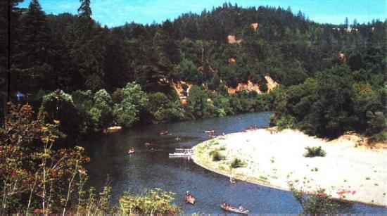 Guerneville, CA: This is after they put the dams up. Some folks made a killing putting low-lying houses up on sti