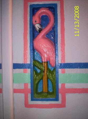 Magic Beach Motel : Magic Beach famous pink flamingo