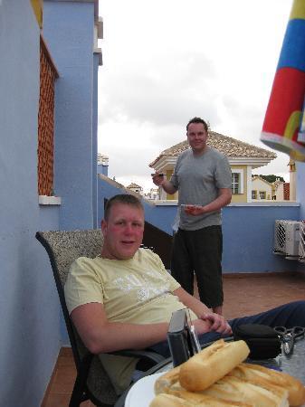 Senorio de Roda: BBQ on the sun terrace