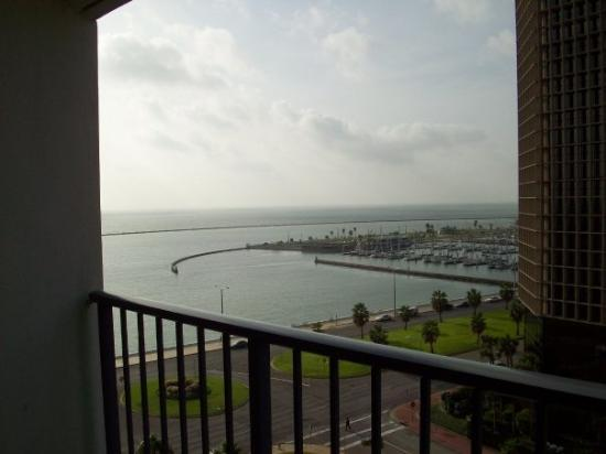 Holiday Inn Corpus Christi Downtown Marina: The view from our hotel room balcony.