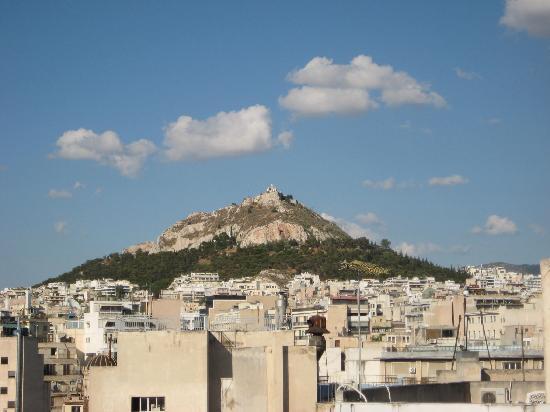 Attalos Hotel: Monte Licabeto desde terraza hotel Attalos