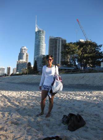 Surfers Paradise Beach: Another day, spending time with myself by the beach again.