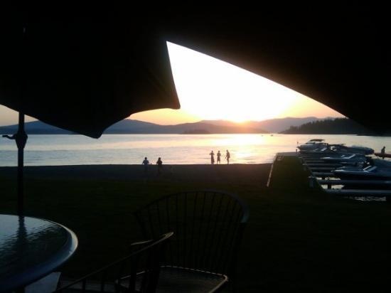 Cool sunset from our table at Beyond Hope, where we ate dinner our last night in Hope.