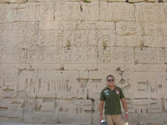 Tomb of Ramses III: egyptian hieroglyphics in ramses temple, egypt