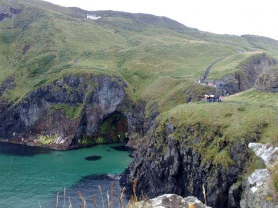 Donegal Town, Ireland: cave at rope bridge