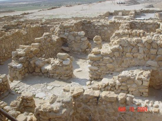 Dead Sea Region, Israel: The remains of Qumran where the Dead Sea Scrolls were found.