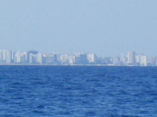 Dolphin Boat Safari: Famagusta Ghost Town from the boat