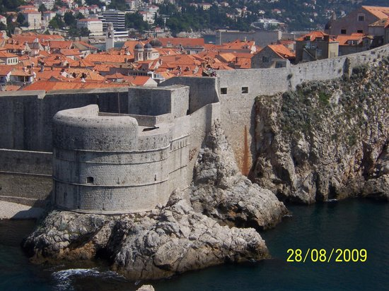 Split, Kroatië: Old City Wall in Dubrovnik