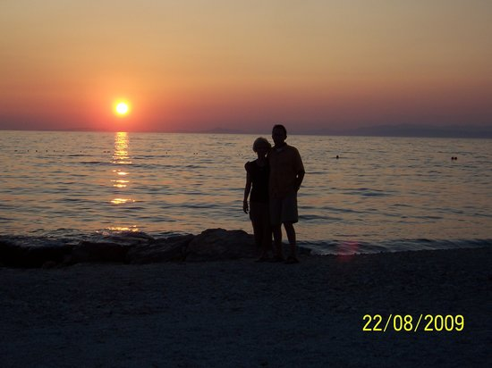 Split, Croatie : Sunset Adriatic Sea on Brac