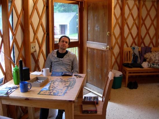 Ohiopyle State Park: You can see the bathrooms/shower out the door