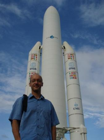 Kourou Space Centre (Centre Spatial Guyanais): Ariane 5. Centre Spatial Guyanais de Kourou. Décembre 2007.