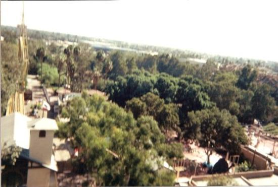 Knott's Berry Farm: The view from the top of Montezuma's revenge sometime in the late '80s.  This artifact was found
