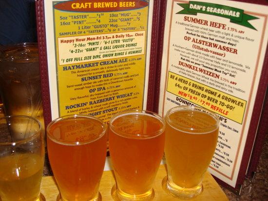 Olde Peninsula Brewpub: My Beer Sampler