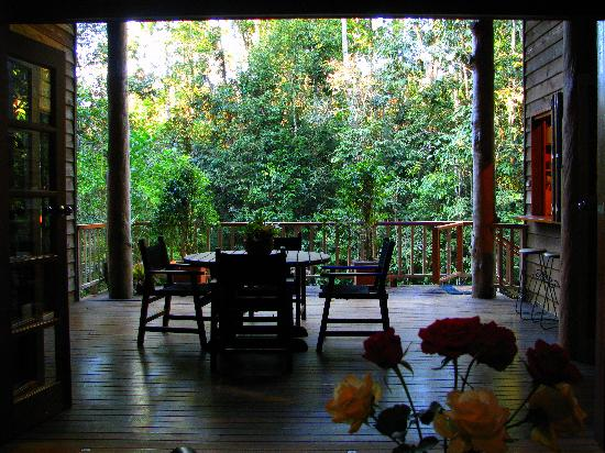 Rivers Edge Rainforest Retreat: Coolara - view from lounge looking out to deck