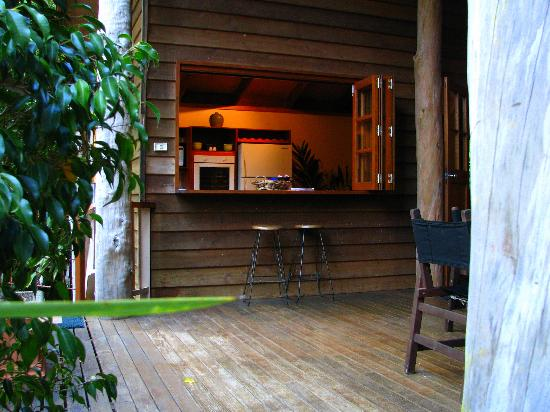 Rivers Edge Rainforest Retreat: Coolara - Kitchen from deck