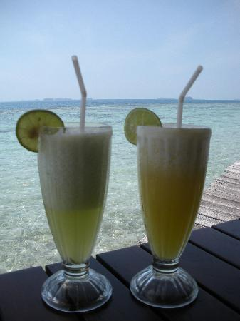 Alam Kotok Island Resort: The fruit drinks were divine!