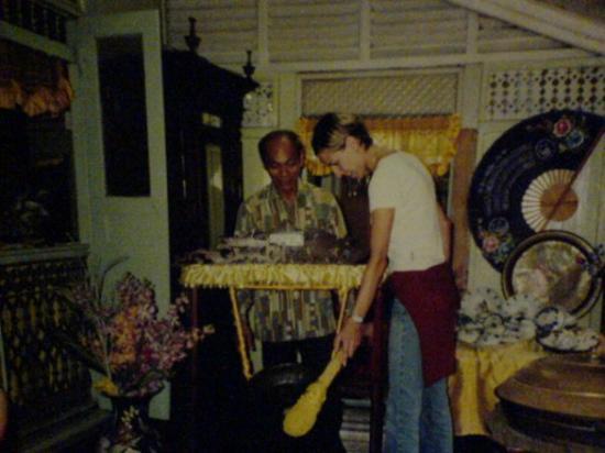 Villa Sentosa (Malay Living Museum): Wishing Gong in der Villa Sentosa, ein lebendes Museum
