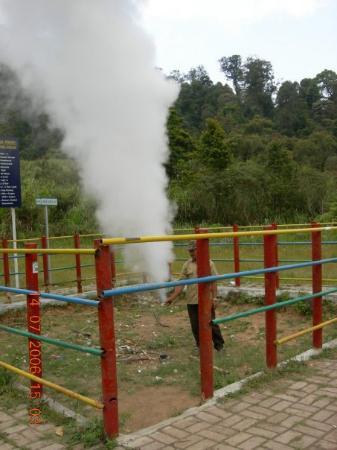 Garut, Indonesia High pressure gas Well, kamojang resort