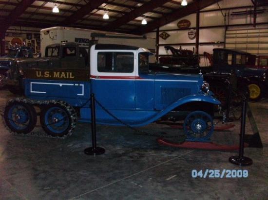 วาลคอตต์, ไอโอวา: 1932 Ford A Snowmobile Mail Truck