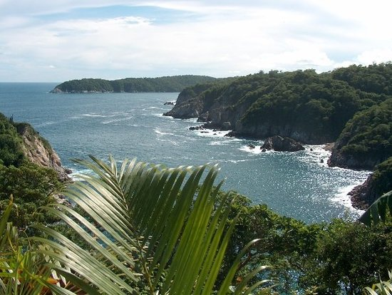 Santa Cruz Huatulco, Meksyk: View from above Violin Beach