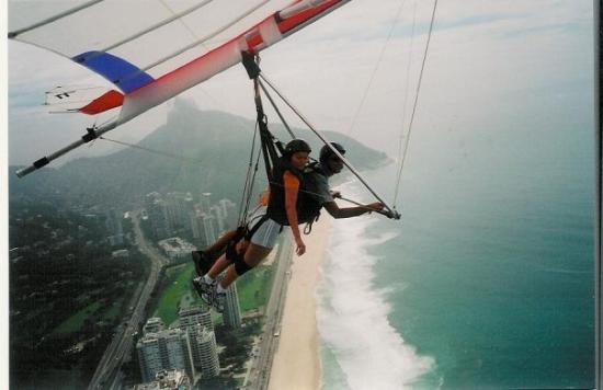 Ipanema Beach: Hang gliding over Rio-- Dec. 2004