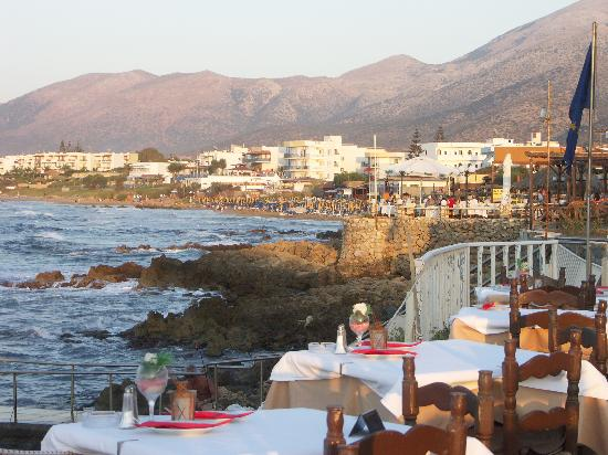 Restaurant Creta: Stalis from the terrace