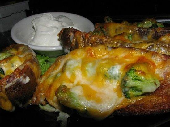 Spot Cafe & Restaurant: potato skins.the spot // groton, ct