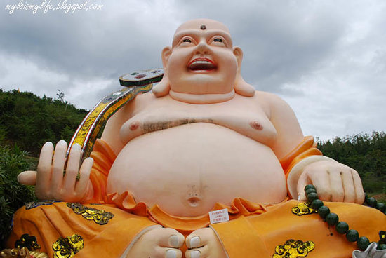 Hat Yai, Thailand: Budai 布袋 The Laughing Fat Buddha 笑佛