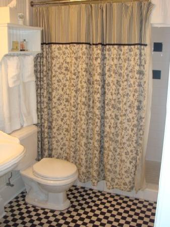 The Marshall House: The bathroom - just a shower, no tub.