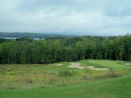 A-Ga-Ming Golf Resort: No. 17 Sundance - view Torch Lake